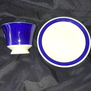 Unknown Blue and White Teacup and Saucer #94
